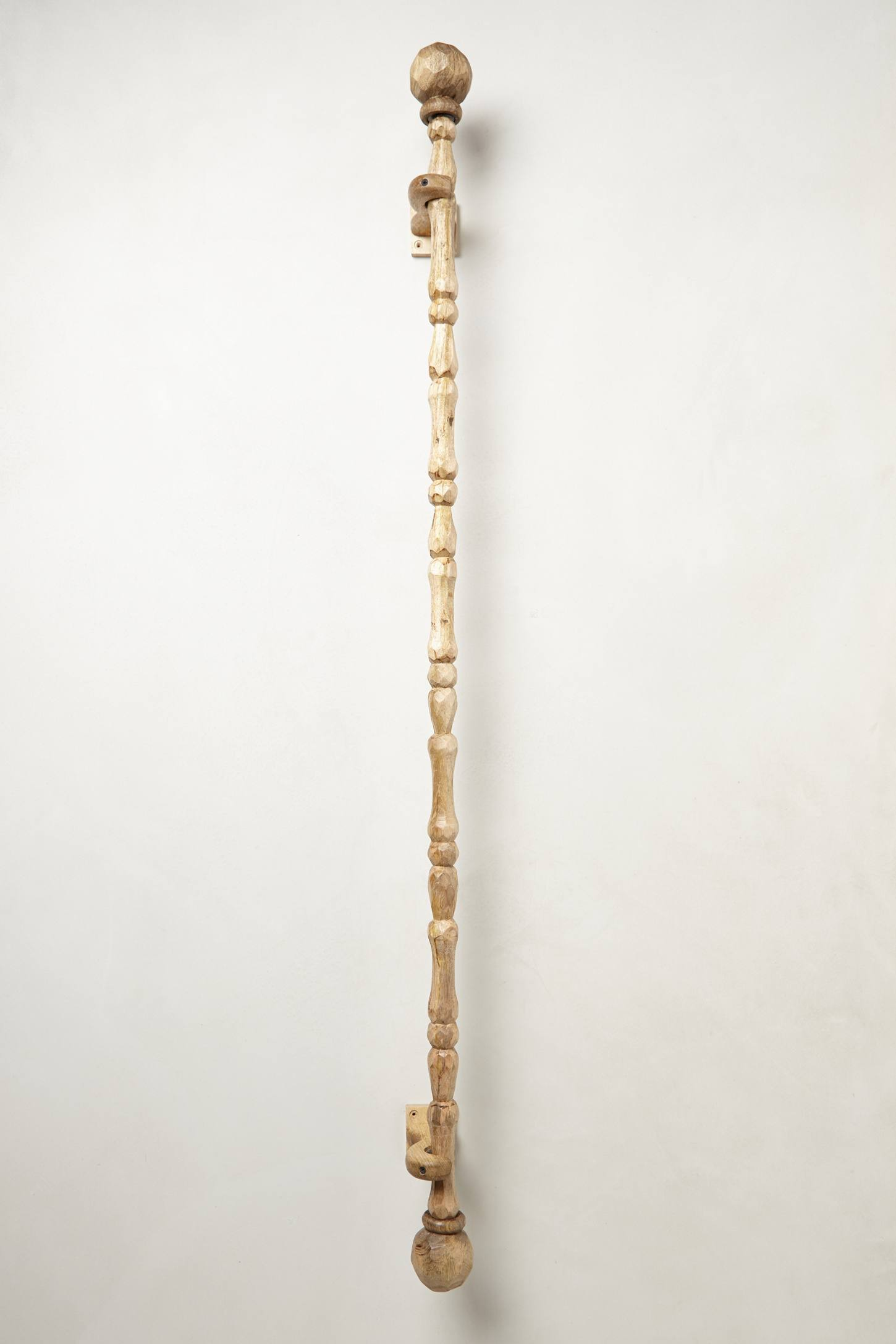Faceted Wood Curtain Rod Anthropologie