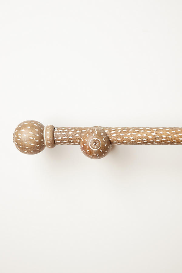 Speckled Wood Curtain Rod