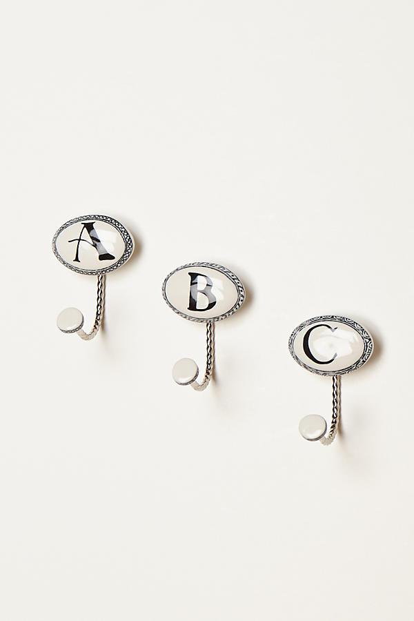 slide view 2 ceramic letter hook