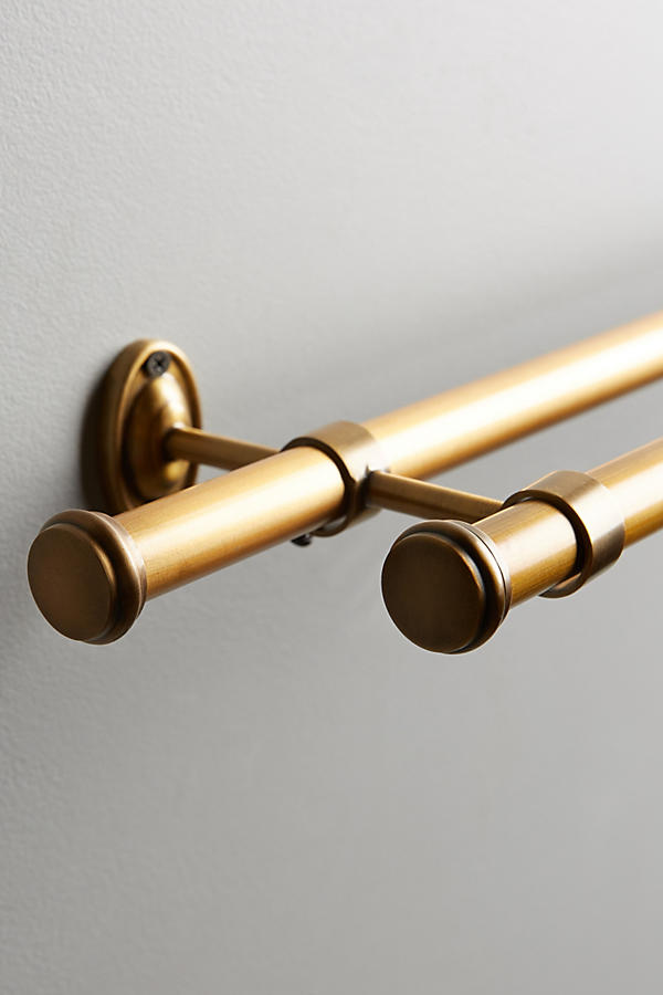 Slide View: 2: Adjustable Double Curtain Rod