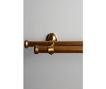 Slide View: 1: Adjustable Double Curtain Rod