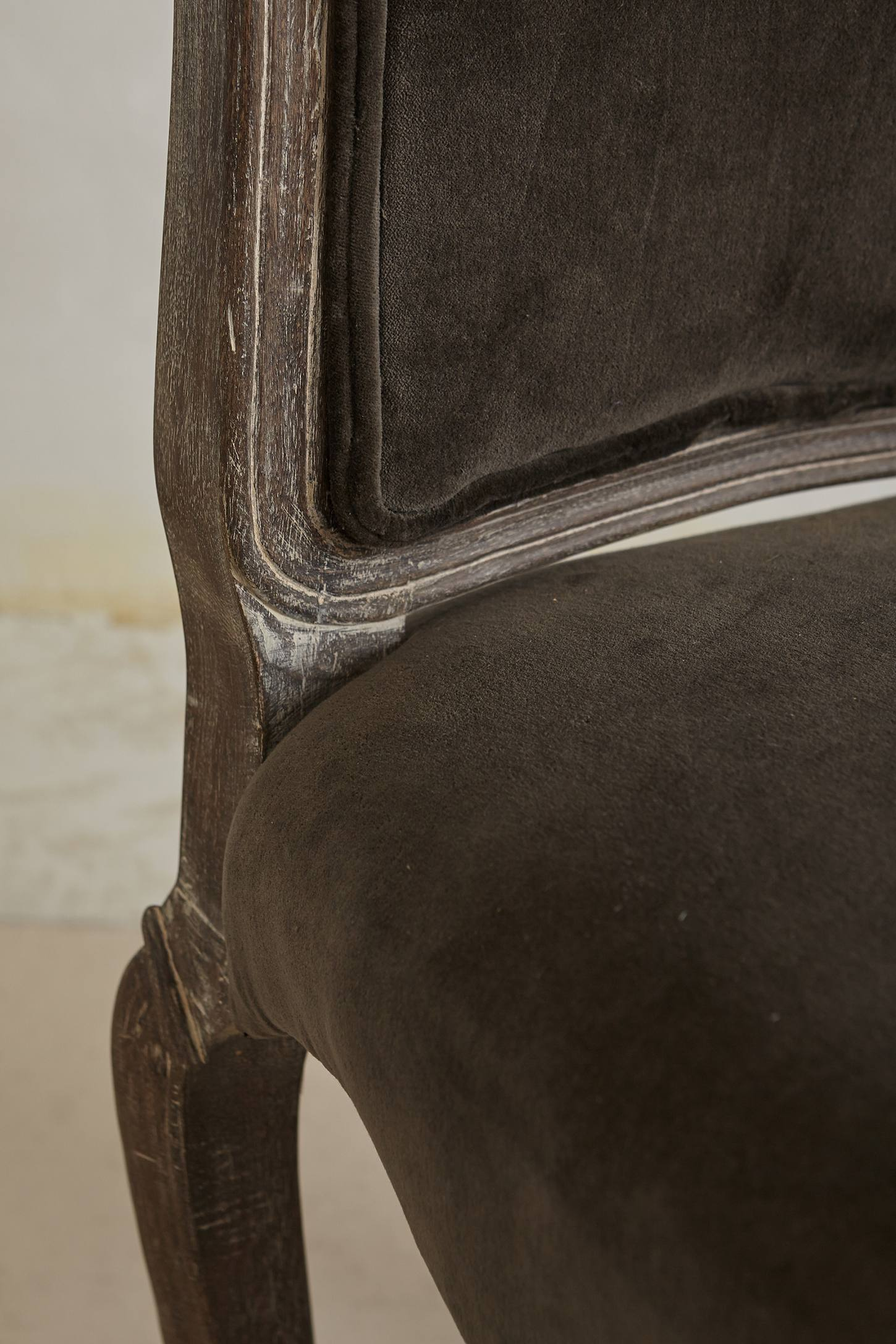 Slide View: 3: Velvet Beatrix Dining Chair