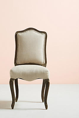 Slide View: 1: Linen Beatrix Dining Chair