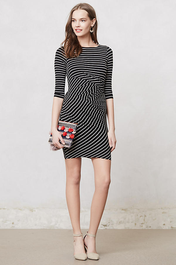 Gamine Striped Dress