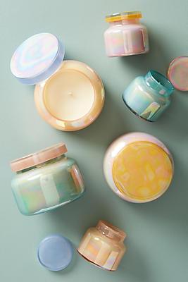 Slide View: 2: Mini Capri Blue Iridescent Jar Candle