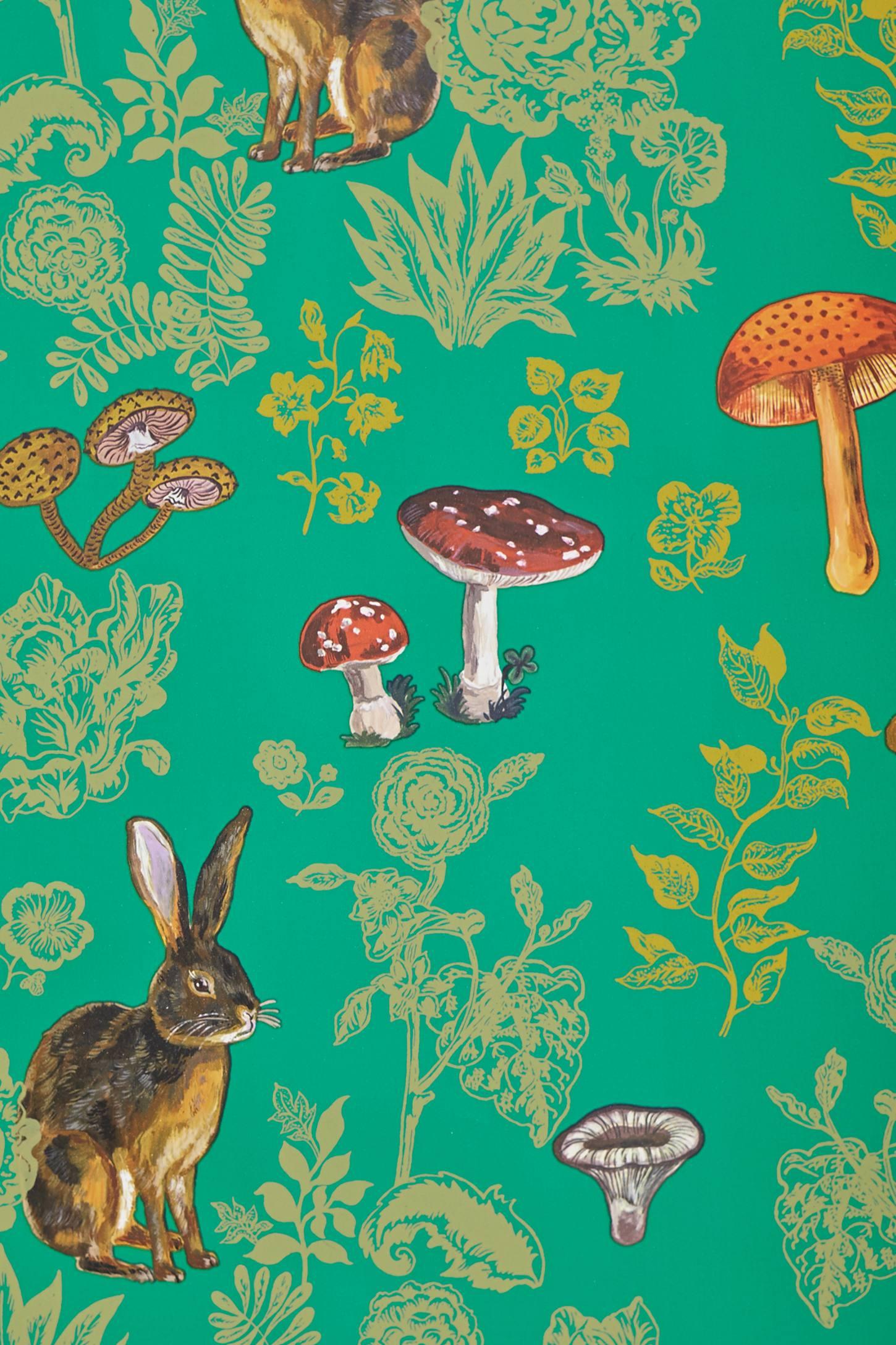 Mushroom Forest Wallpaper Anthropologie