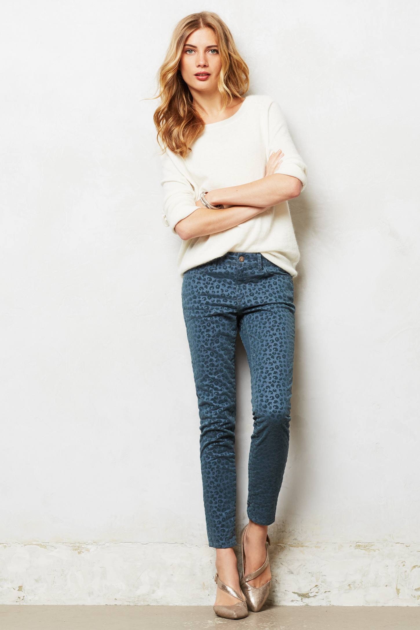 Pilcro Stet Ankle Flocked Jeans
