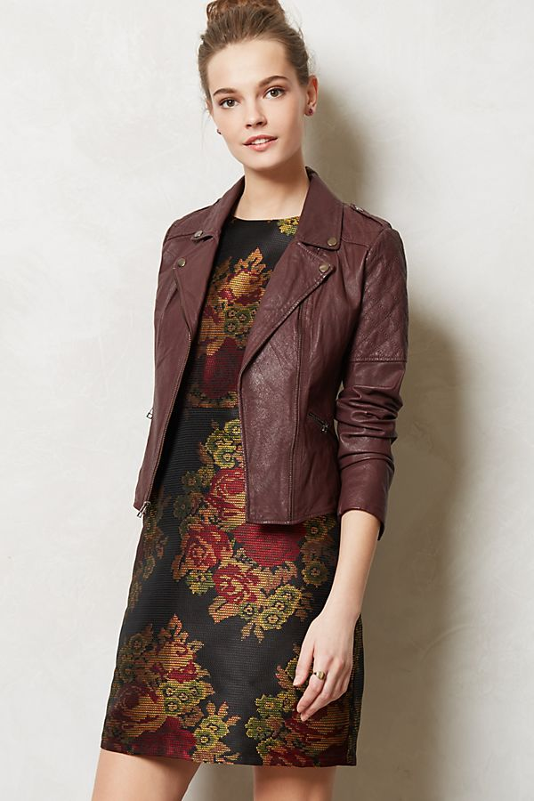 Quilted Leather Moto Jacket Anthropologie