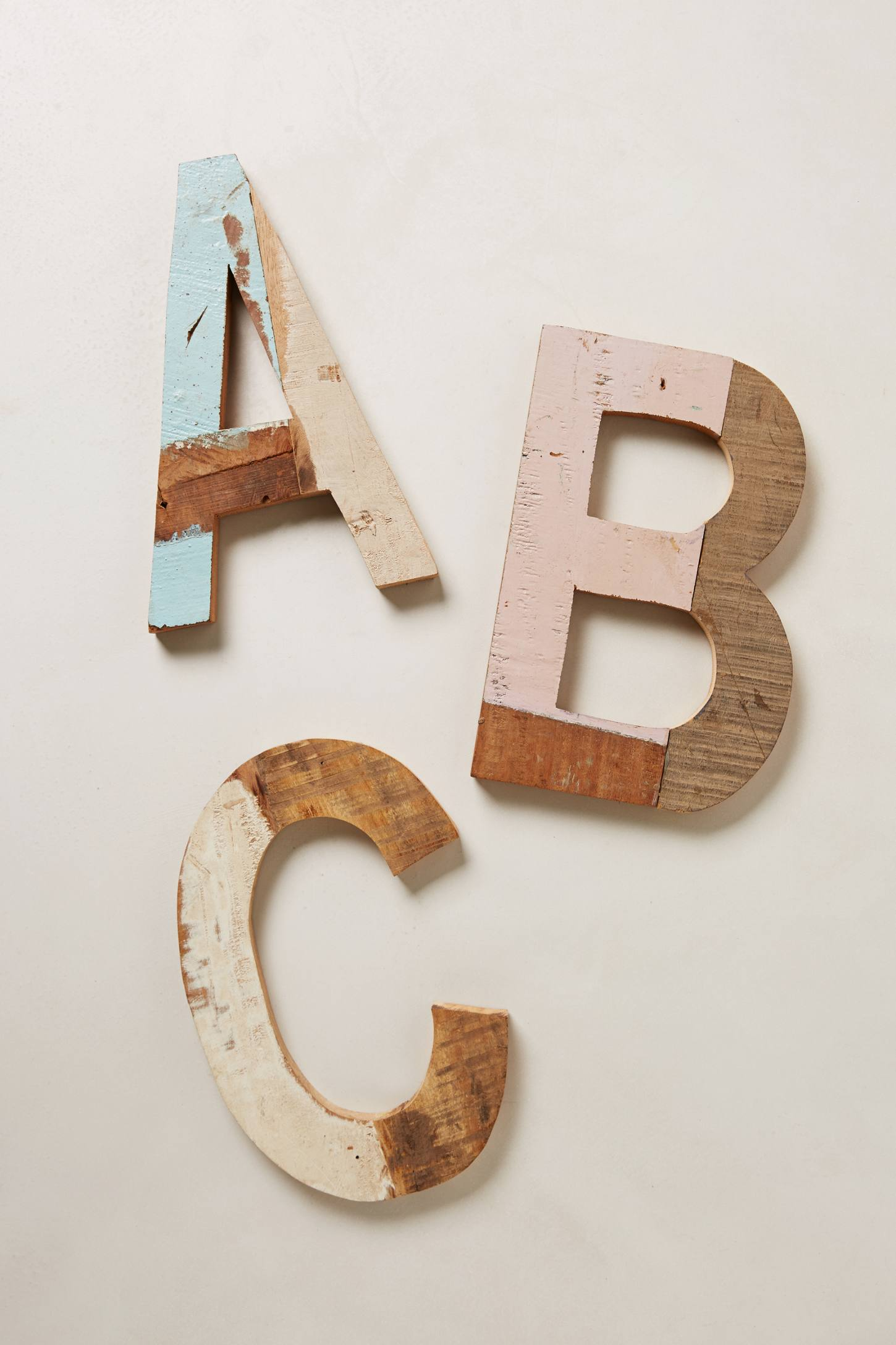 Wood Block Letters ~ Reclaimed wood block letters anthropologie