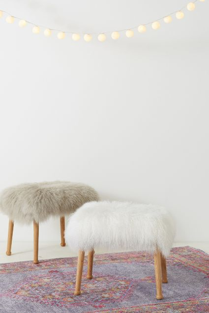 The Luxe Fur Stool