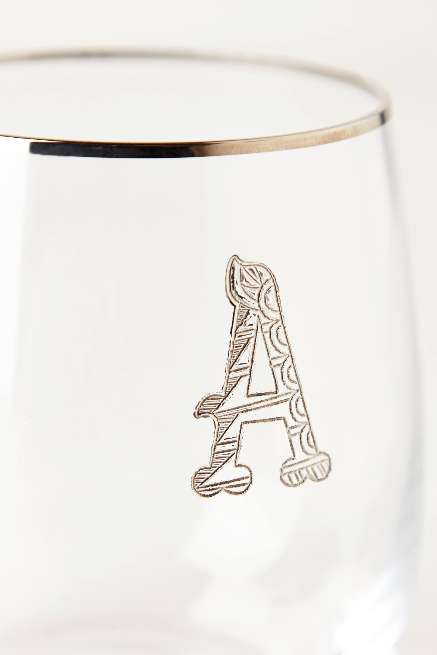 Slide View: 6: Etched Monogram Glass