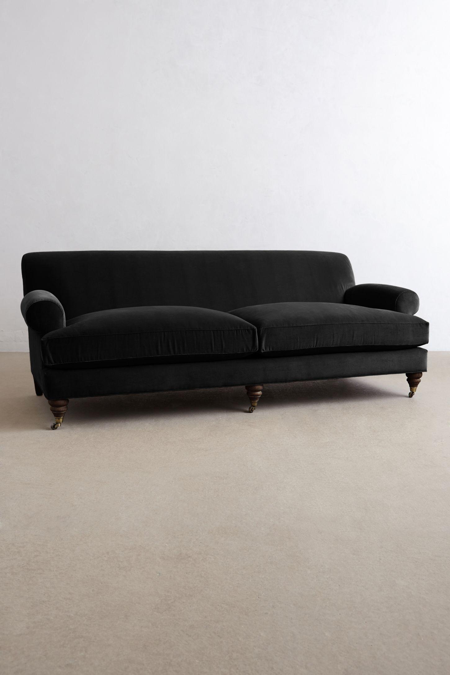 Charming Blue Velvet Couch Anthropologie Best inspiration