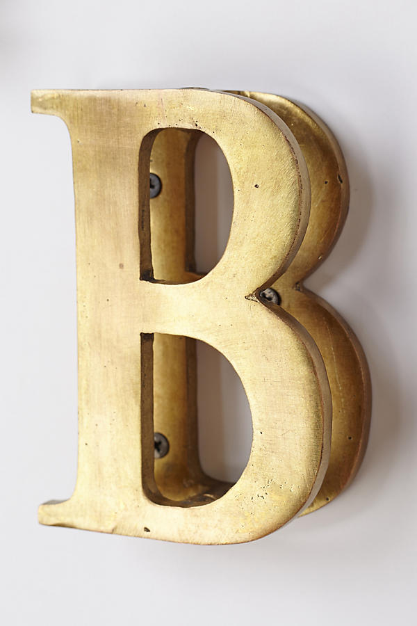 Slide View: 3: Monogram Doorknocker