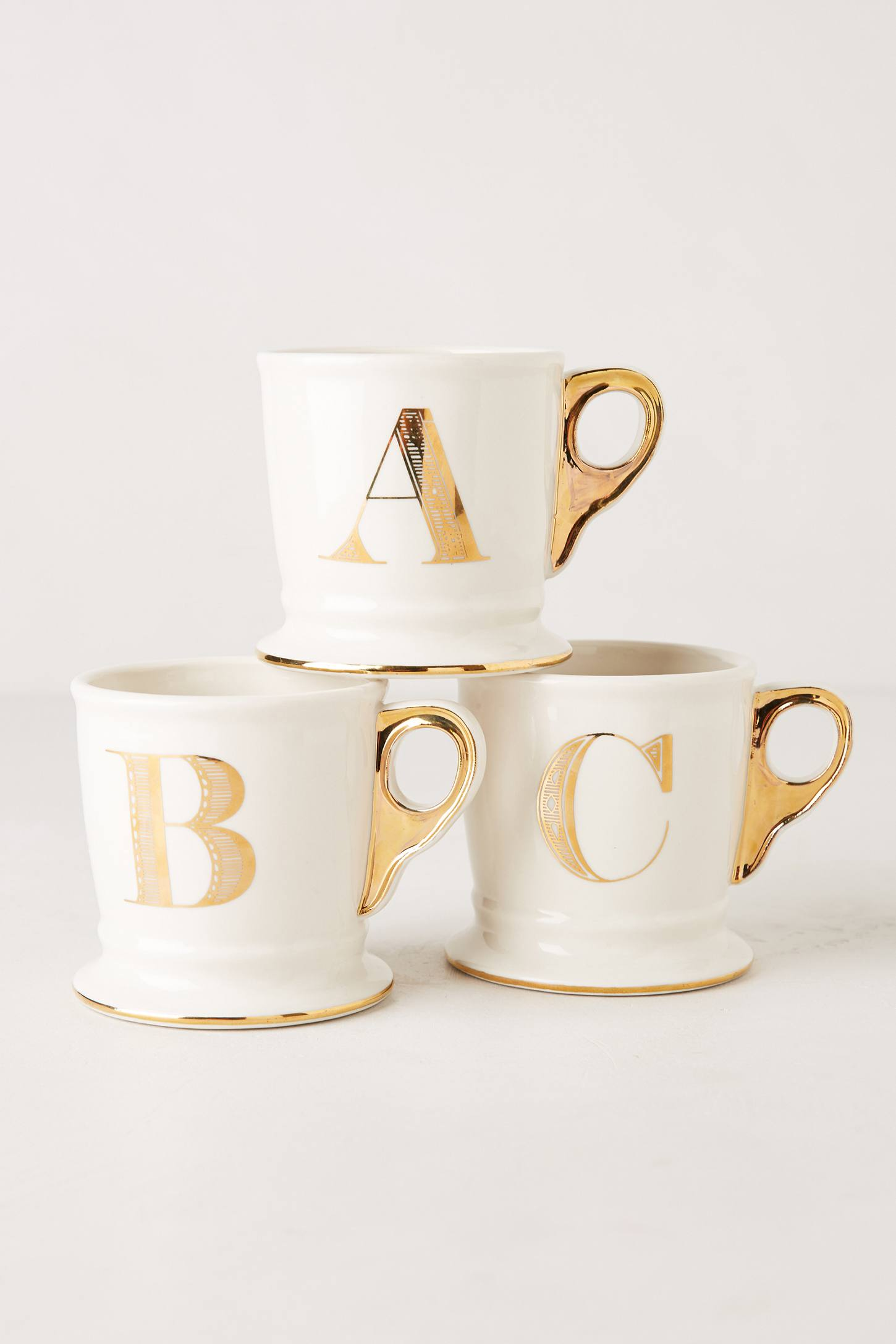 limited edition golden monogram mug anthropologie