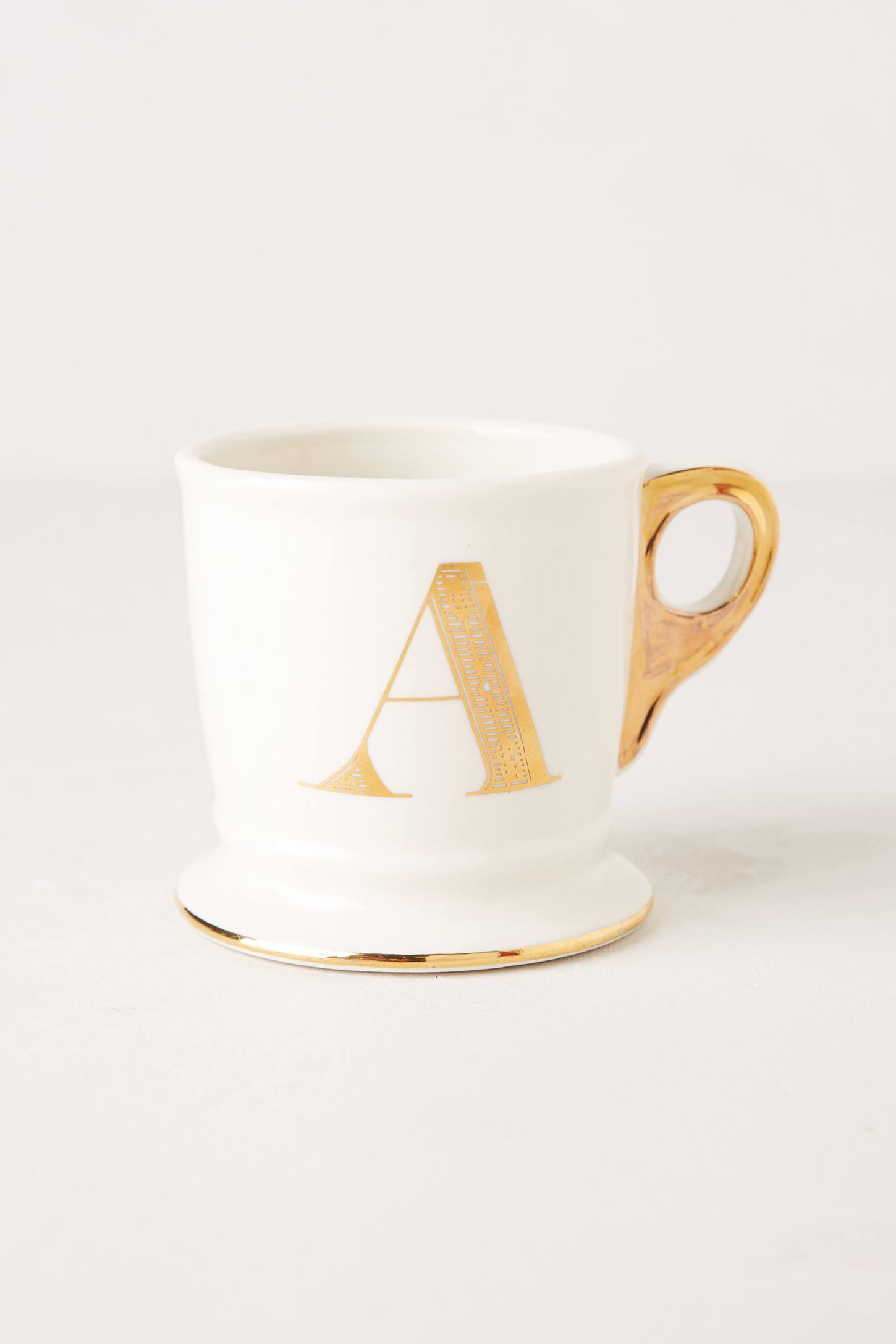 limited edition golden monogram mug anthropologie With gold letter mug