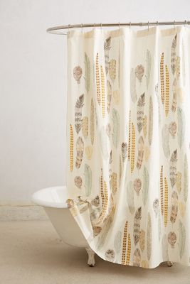 Curtains Ideas anthropology shower curtain : Fallen Quills Shower Curtain | Anthropologie