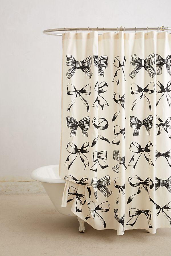 Bow-Tie Shower Curtain | Anthropologie on waterworks bathroom design, houzz bathroom design, kelly wearstler bathroom design, ikea bathroom design,