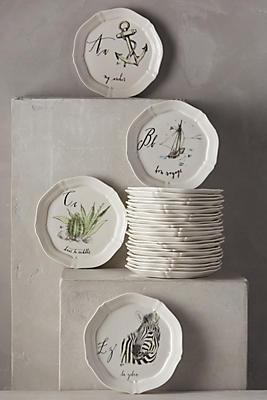 Calligrapher Monogram Canape Plate