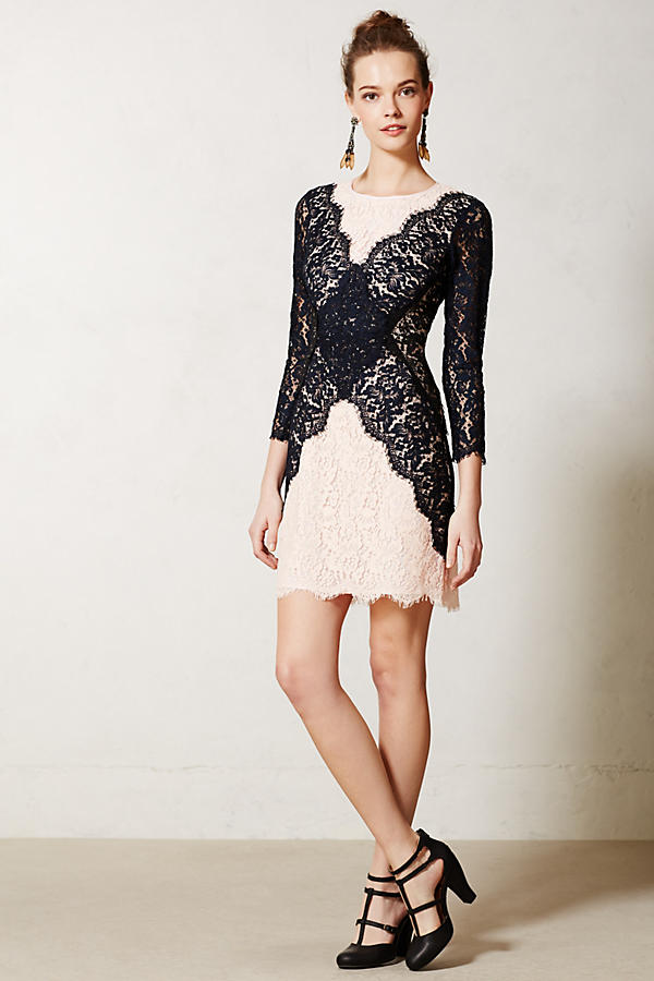 Patchwork Lace Pencil Dress