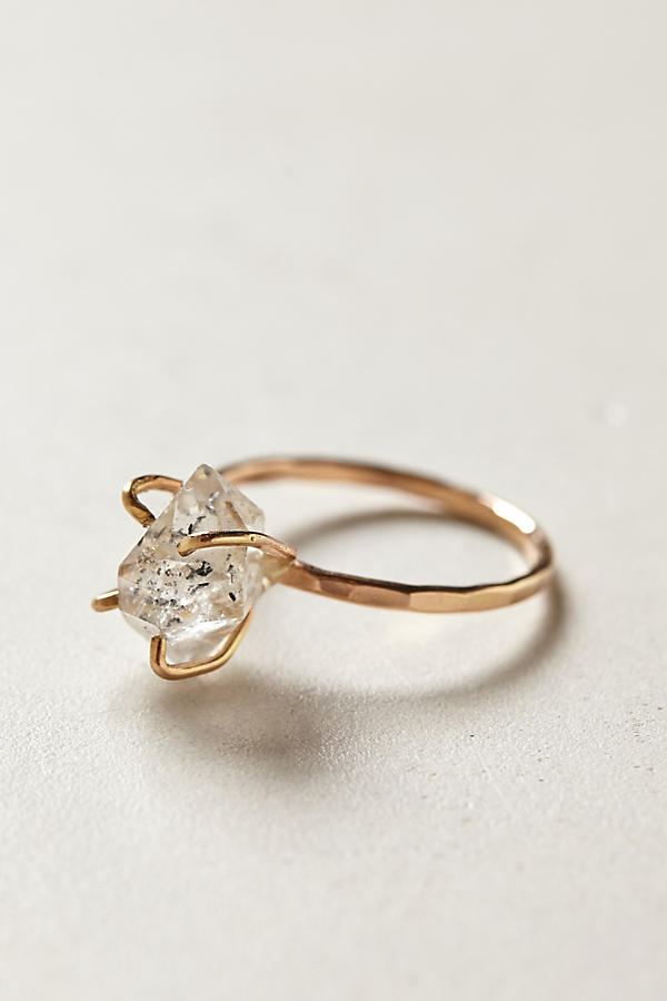 Herkimer diamond ring anthropologie junglespirit Image collections