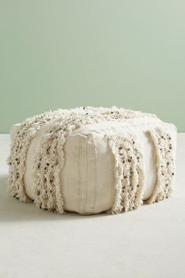 Moroccan Wedding Pouf Anthropologie