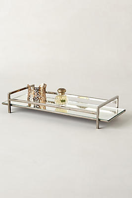 mirrored bathroom tray mirrored vanity tray anthropologie 13689