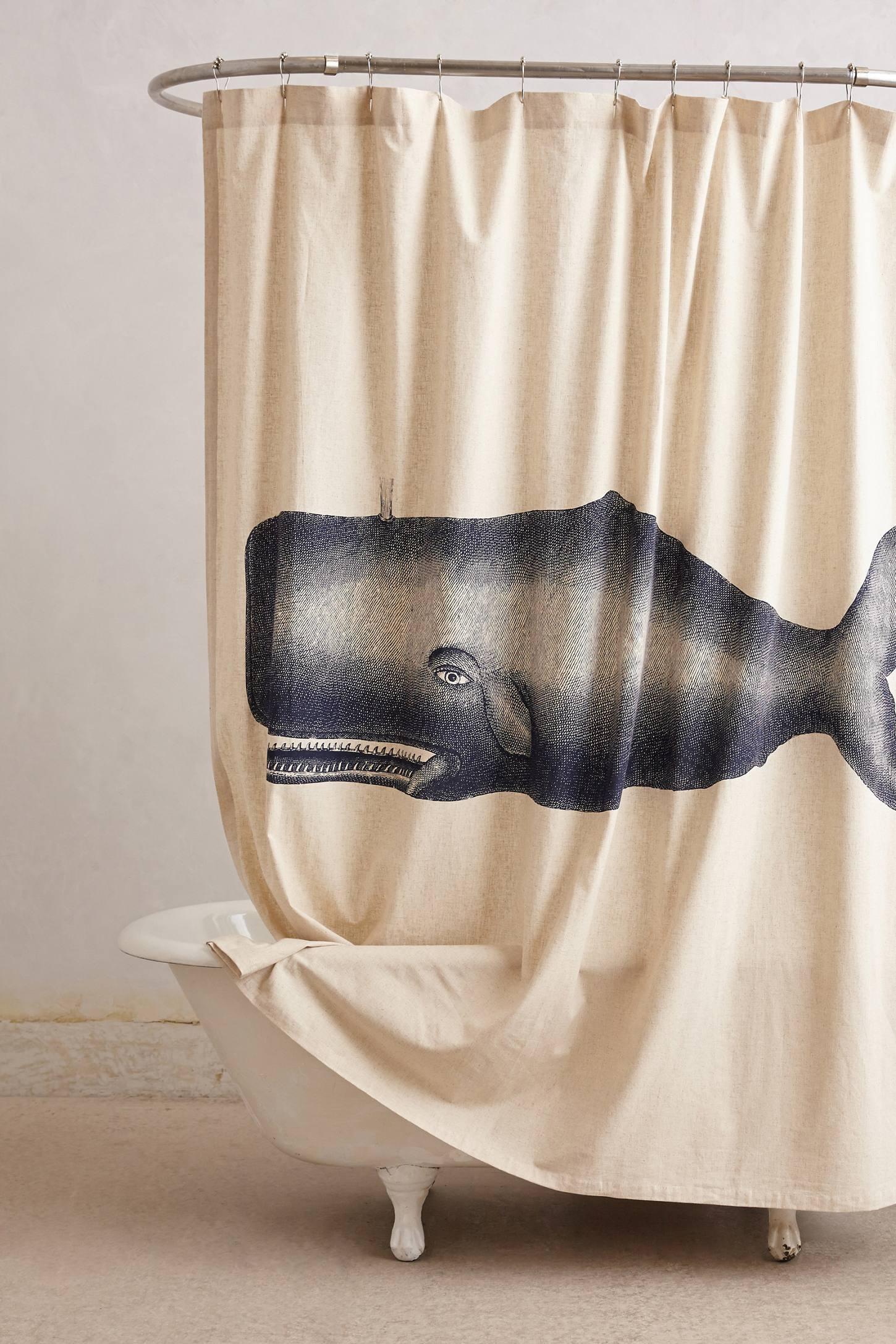 Whale shower curtain - Whale Shower Curtain Hooks Anthropologie Shower Curtain Hooks