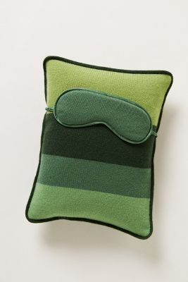 Cashmere Travel Pillow & Eye Mask