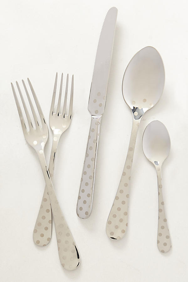 Slide View: 1: Polka Dotted Flatware