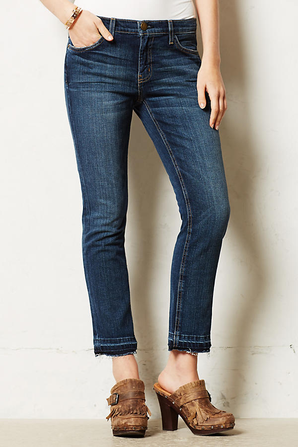 Current/Elliott Cropped Straight Jeans
