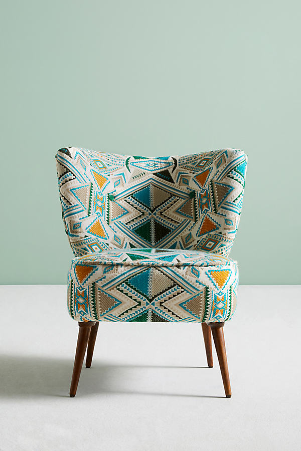 Marialle Ikat Chair - Sapphire