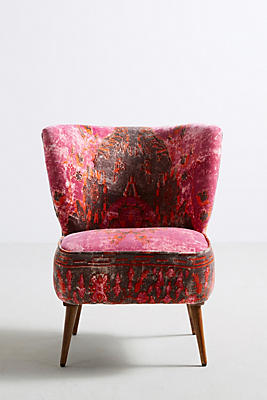 Slide View: 1: Dhurrie Accent Chair