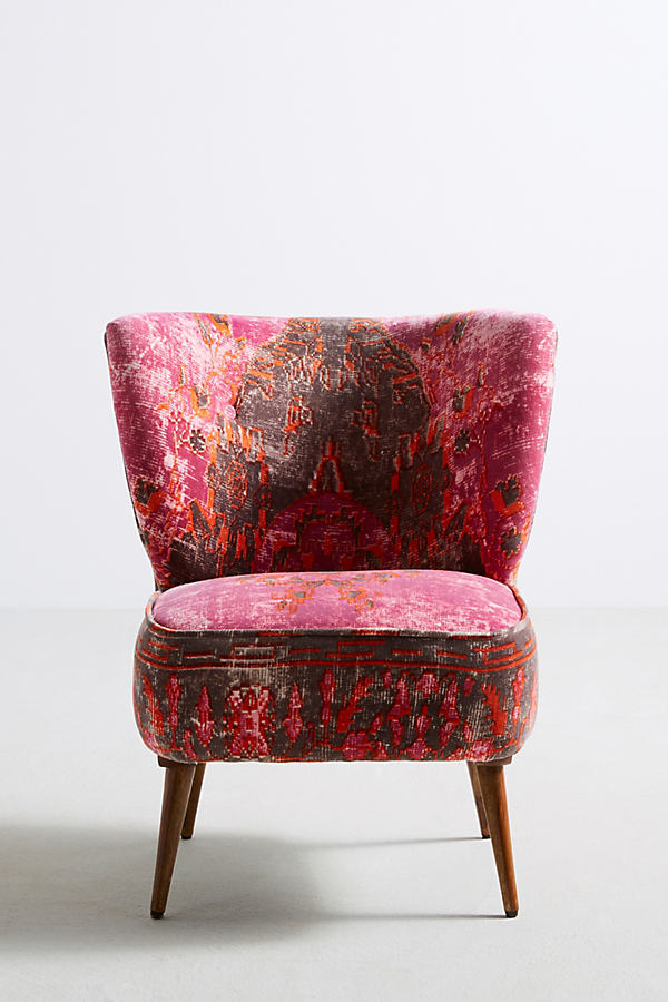 Marialle Ikat Chair - Raspberry