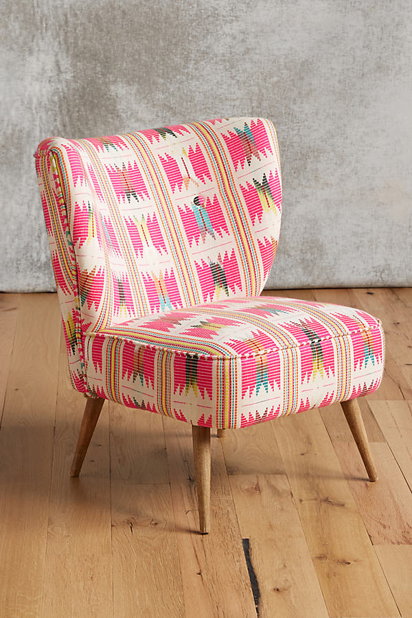 Marialle Ikat Chair - Pink
