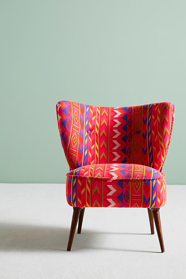 Marialle Ikat Chair - Medium Pink