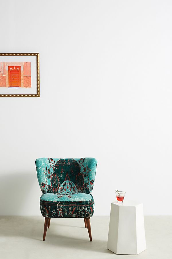dhurrie accent chair anthropologie