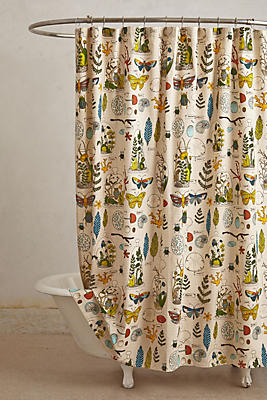 Entomology Shower Curtain Anthropologie