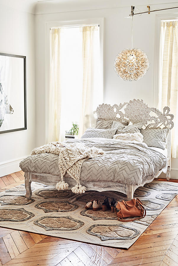 Handcarved Lotus Bed Anthropologie