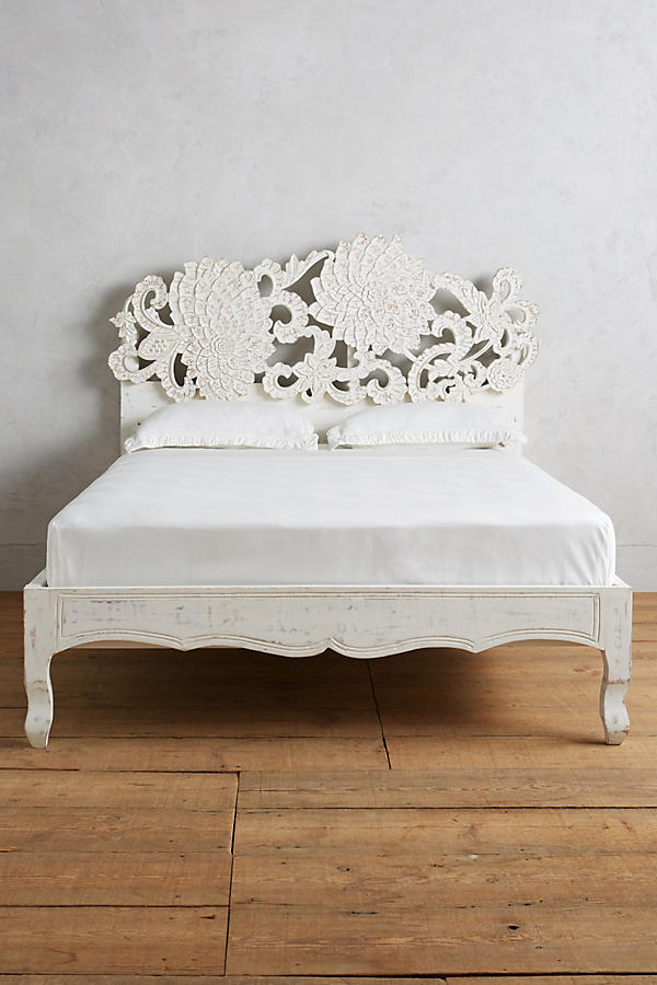 Slide View: 3: Handcarved Lotus Bed