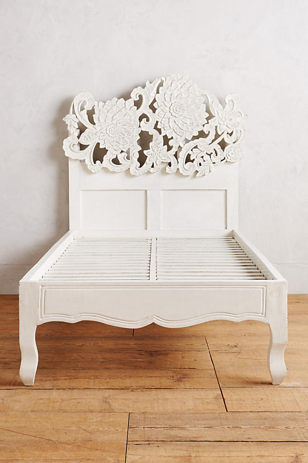 Slide View: 6: Handcarved Lotus Bed