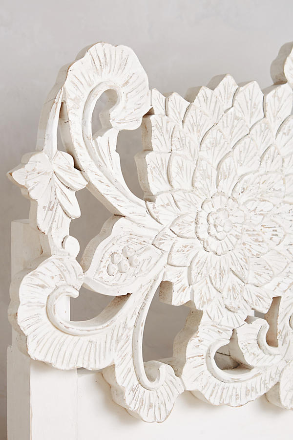 Slide View: 8: Handcarved Lotus Bed