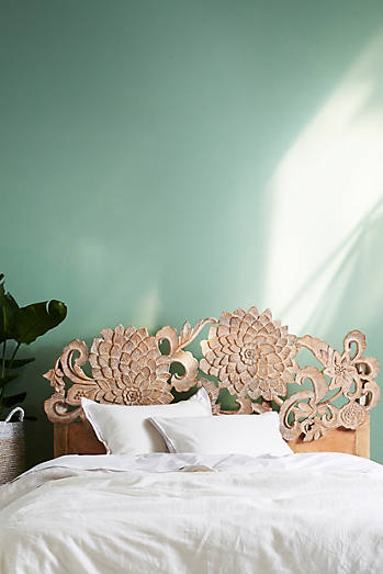 Hand-Carved Lotus Bed