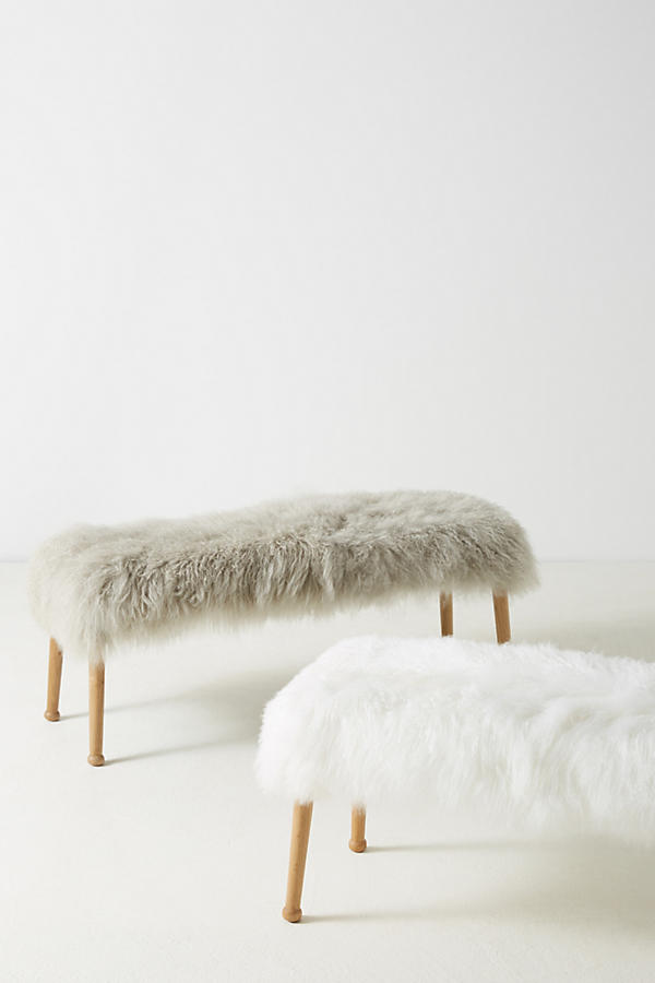 Slide View: 5: Luxe Wool Bench