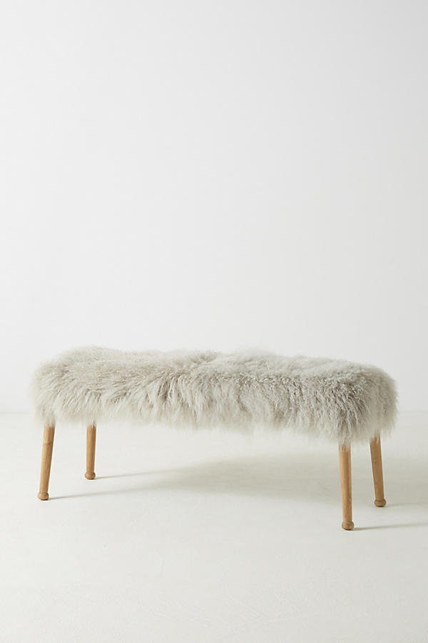 Slide View: 2: Luxe Wool Bench