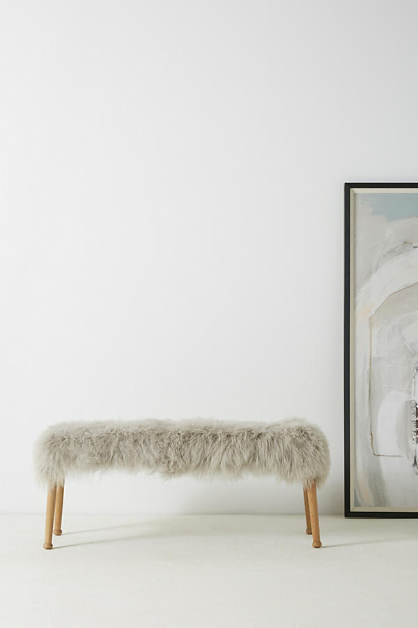 Slide View: 1: Luxe Wool Bench