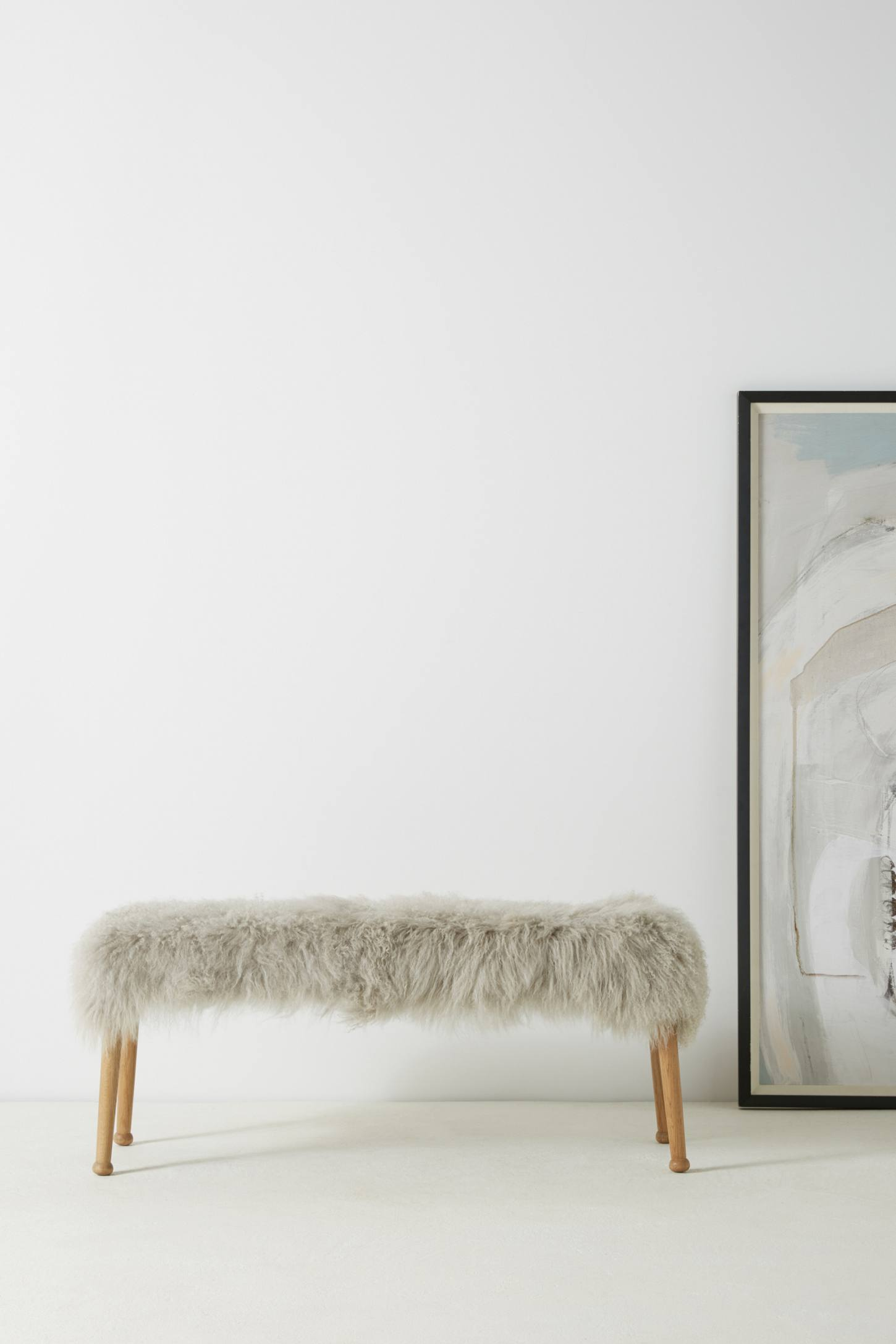 Slide View: 1: Luxe Fur Bench