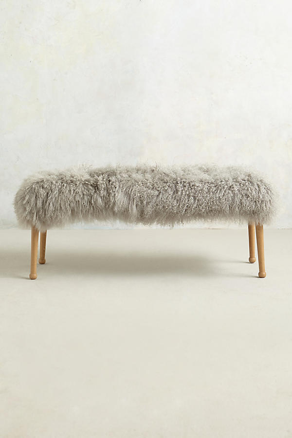 Slide View: 2: Luxe Fur Bench