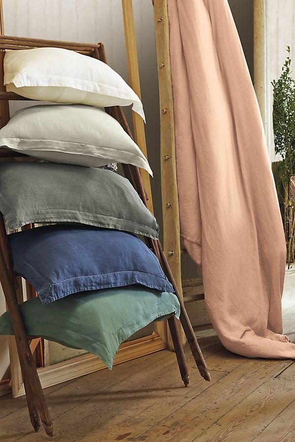 Soft Washed Linen Duvet Cover Anthropologie