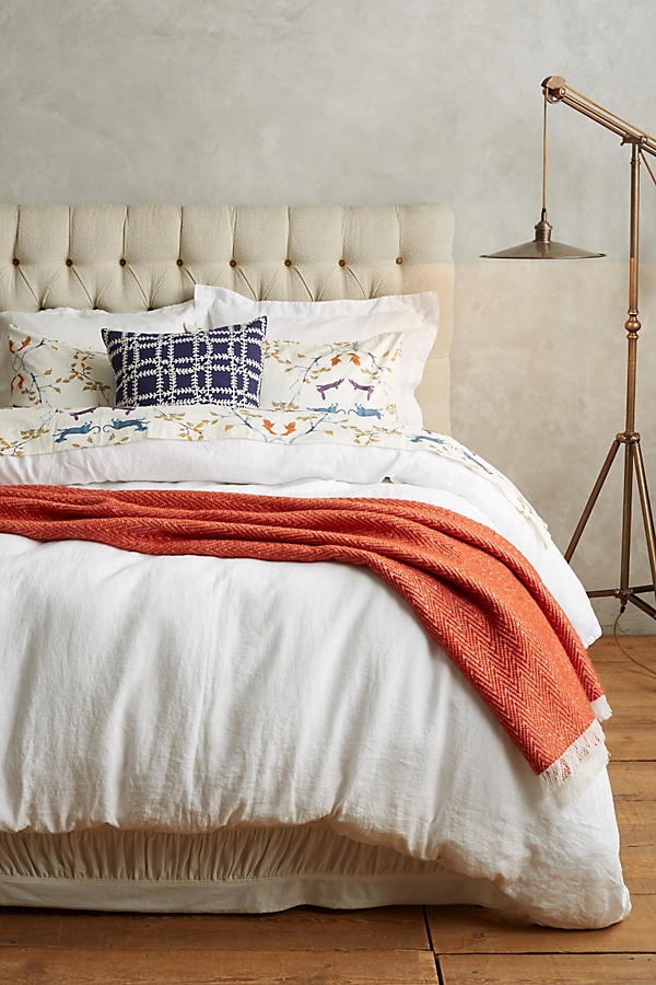 Slide View: 4: Soft-Washed Linen Duvet Cover