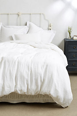 Slide View: 1: Soft-Washed Linen Duvet